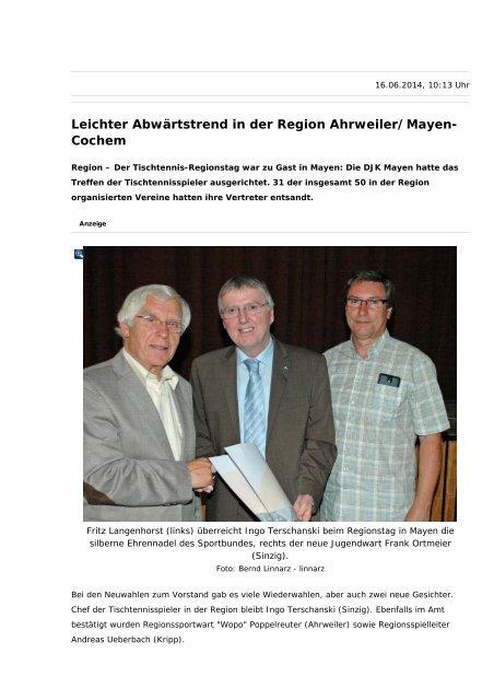 Leichter Abwärtstrend in der Region Ahrweiler/Mayen- Cochem