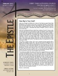 How Big Is Your God? - Saint Paul Lutheran Church