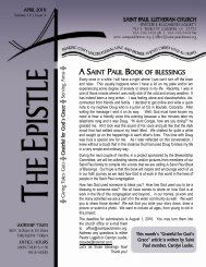 A SAINT PAUL BOOK OF BLESSINGS - Saint Paul Lutheran Church