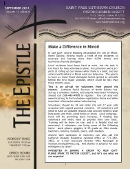 Make a Difference in Minot! - Saint Paul Lutheran Church