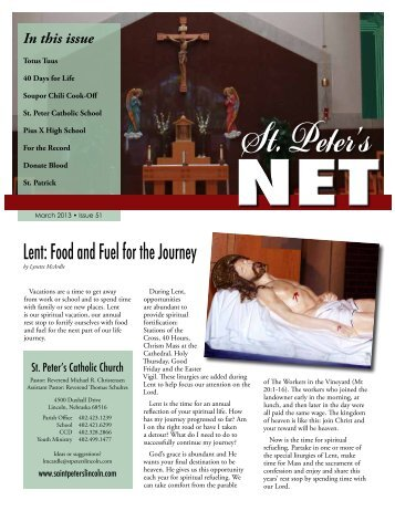 Spring 2013.pdf - Saint Peter's Catholic Church