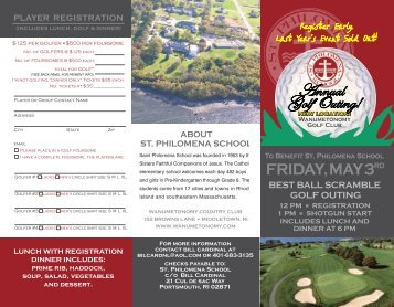 to register - Saint Philomena School