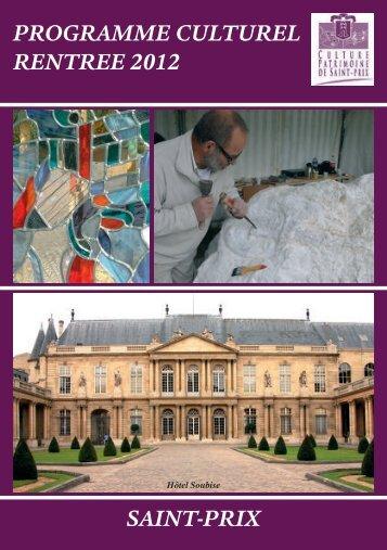 Téléchargez le programme culturel - Saint-Prix