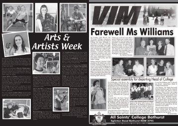 VIM Issue 1 2008 - All Saints College
