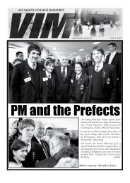 VIM Issue No 3 2007 Part 1 - All Saints College