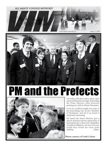 VIM Issue No 3 2007 Part 1 - All Saints College