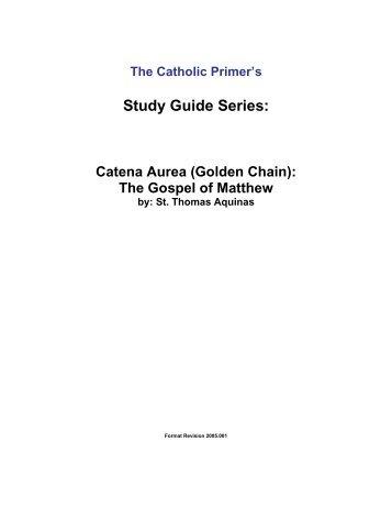 The Gospel of Matthew - The Catholic Primer