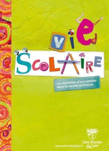 Plaquette Vie scolaire - Ville de Saint-Sébastien-sur-Loire
