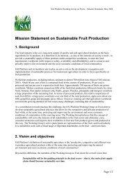 Mission Statement on Sustainable Fruit Production - SAI Platform