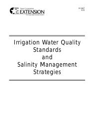 Irrigation Water Quality Standards and Salinity ... - eXtension