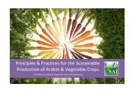 Principles & Practices for Sustainable Production of ... - SAI Platform