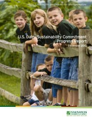 U.S. Dairy Sustainability Commitment Progress Report - Innovation ...