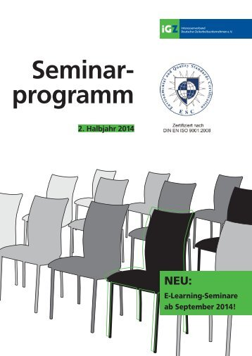 iGZ-Seminarprogramm 02-2014