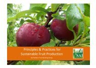 Principles & Practices for Sustainable Fruit Production - SAI Platform