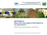 See Presentation 4 - SAI Platform
