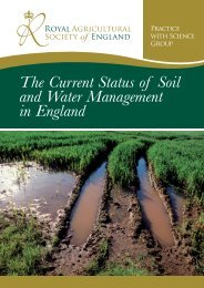 The Current Status of Soil and Water Management in England
