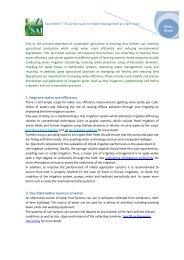 1. Improve water use efficiency 2. Use Alternative ... - SAI Platform