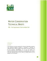 The Importance of Soil to Water Use - SAI Platform