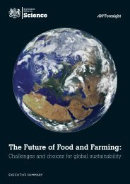 The Future of Food and Farming: - Dius.gov.uk