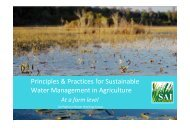 Principles & Practices for Sustainable Water ... - SAI Platform