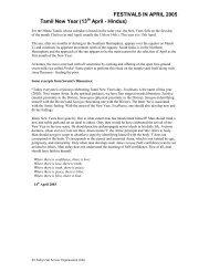 April - Sathya Sai Service Organisation Scotland
