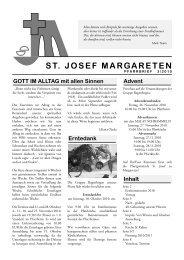 gedacht: Wie geht´s, Herr Pfarrer? - St. Josef