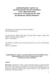 """""""Epidemiologische Aspekte von psychosomatischen ..."""