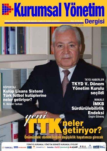 Kurumsal Yönetim Dergisi 12