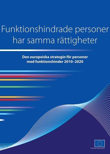 EU:s funktionshinderspolitiska strategi pdf-format (303 kB) - Handisam