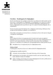 Checklista – Handlingsplan för tillgänglighet - Handisam