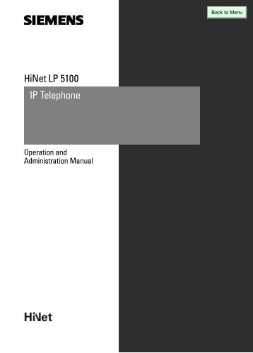 IP Telephone HiNet LP5100