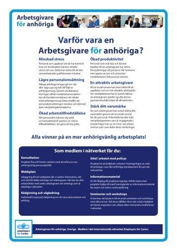 Informationsblad om nätverket Arbetsgivare för anhöriga (pdf, nytt ...
