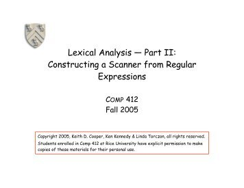 Lexical Analysis — Part II: Constructing a Scanner from ... - ByteLABS
