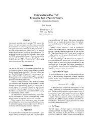 Unigram Backoff vs. TnT Evaluating Part of Speech ... - ByteLABS