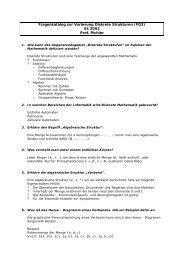 Fragenkatalog zur Vorlesung Diskrete Strukturen (FG3 ... - ByteLABS