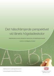 Det hälsofrämjande perspektivet vid länets högstadieskolor, 2012