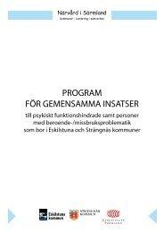 MÅL för gemensamma insatser - Landstinget Sörmland
