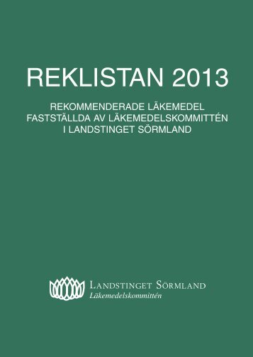 REKLISTAN 2013 - Landstinget Sörmland