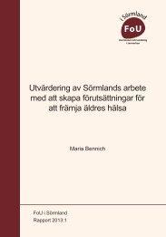 Rapport 2013:1 - FoU i Sörmland