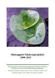Näckrosprojektets slutrapport - Landstinget Sörmland
