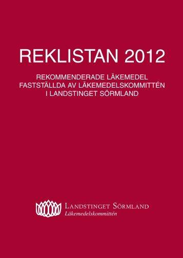 REKLISTAN 2012 - Landstinget Sörmland
