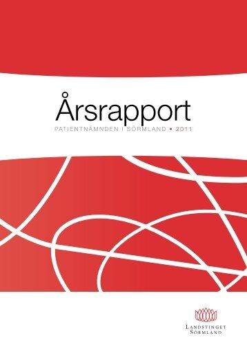 Patientnämndens årsrapport 2011 - Landstinget Sörmland