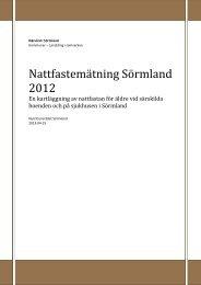 Nattfastemätning Sörmland 2012 - Landstinget Sörmland