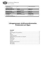 Primärvård och ögonsjukdomar - Landstinget Sörmland