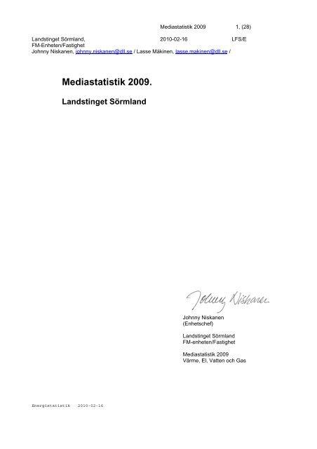 Energistatistik - Landstinget Sörmland