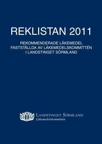 REKLISTAN 2011 - Landstinget Sörmland