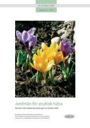 Jordmån för psykisk hälsa - Landstinget Sörmland