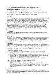 ESBL-bildande bakterier – läkarinformation