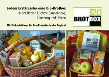 Jedem Erstklässler eine Bio-Brotbox - Heinrich-Böll-Haus Lüneburg