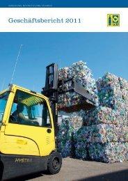 Geschäftsbericht 2011 - PET-Recycling Schweiz